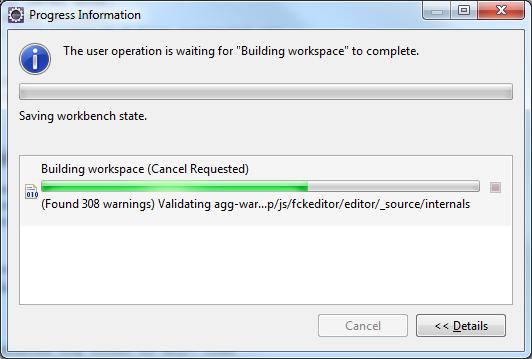 420249 – Javscript Validator hangs up when validating fckeditor