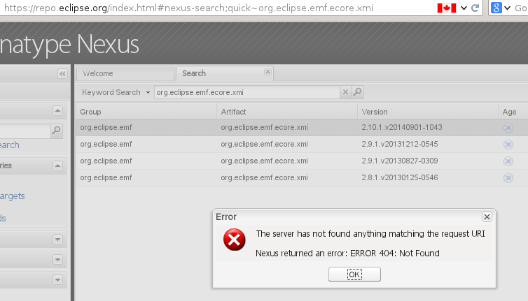 458748 – Maven fails to resolve org eclipse emf ecore xmi from repo