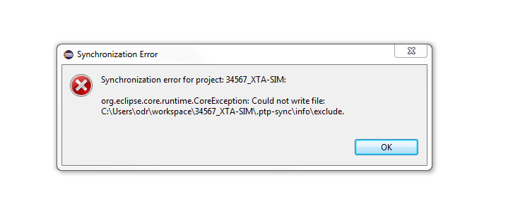 473733 – Remote project synchronization fails at start