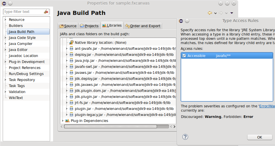 482428 – Support FXCanvas in Java9