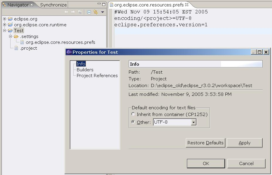 108668 – Default text encoding should be set to UTF-8 for
